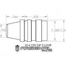 32 Caliber 100 Gr. TC – LYMAN CLONE