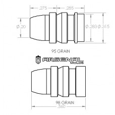 32 Caliber 98 Gr. SWC KEITH BULLET