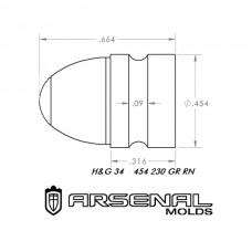 454 230 Gr. RN – H&G 34