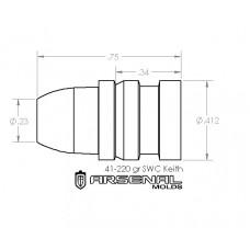 41 Caliber 220 Gr. SWC – Keith Bullet